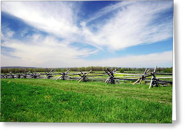Fence Line Greeting Card by Paul W Faust - Impressions of Light