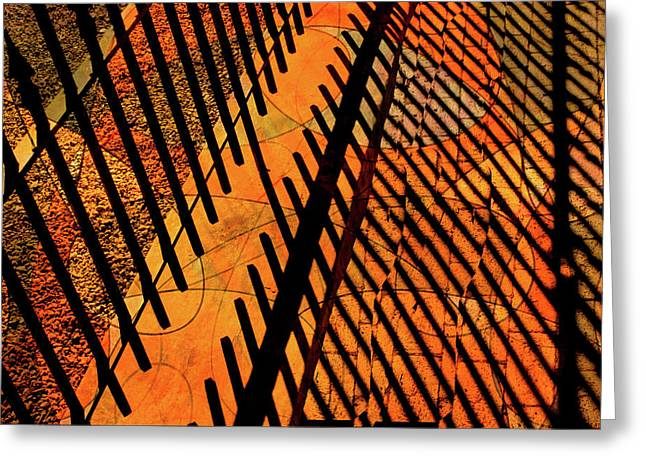 Fenced Framework Greeting Card by Don Gradner
