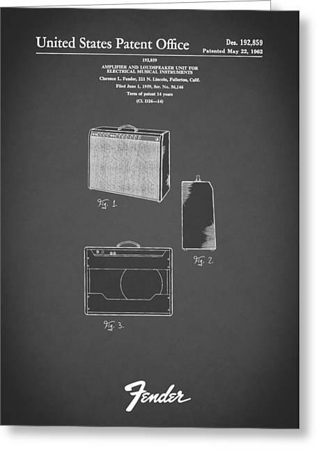 Fender Amp 1962 Greeting Card