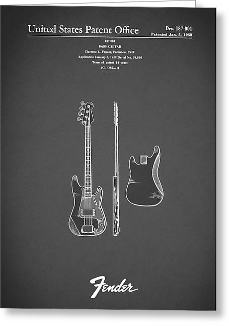Fender Bass Guitar 1960 Greeting Card