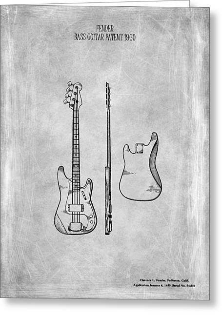 Fender Bass Guitar Patent 1960 Greeting Card