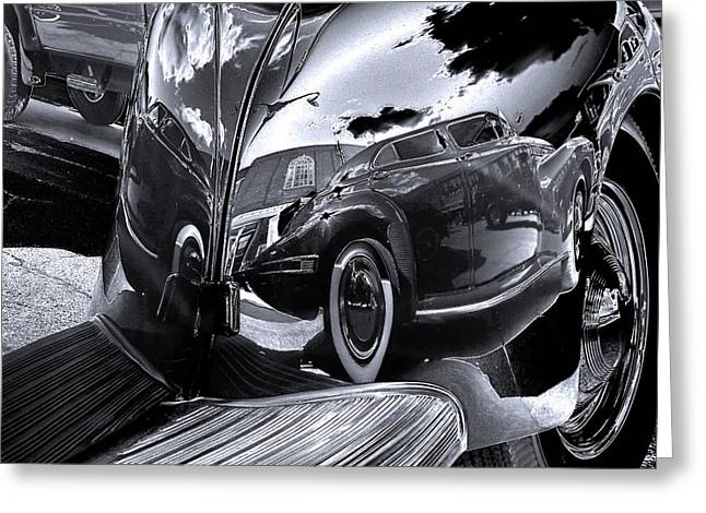 Fender Bender Greeting Card by Sue Stefanowicz