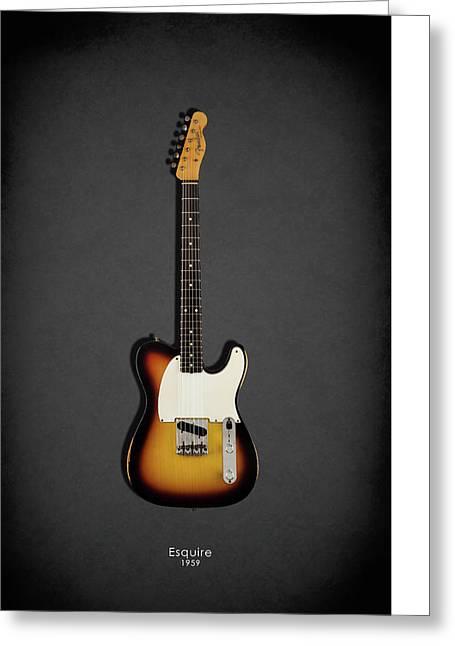 Fender Esquire 59 Greeting Card