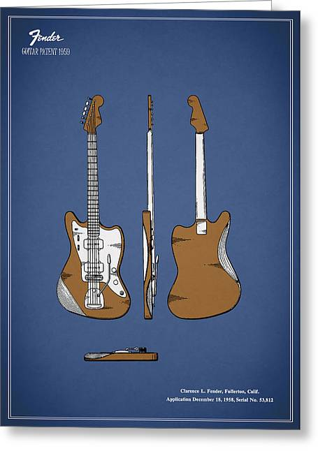 Fender Guitar Patent 1959 Greeting Card