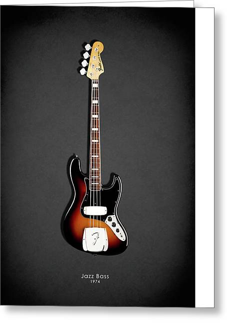 Fender Jazzbass 74 Greeting Card by Mark Rogan