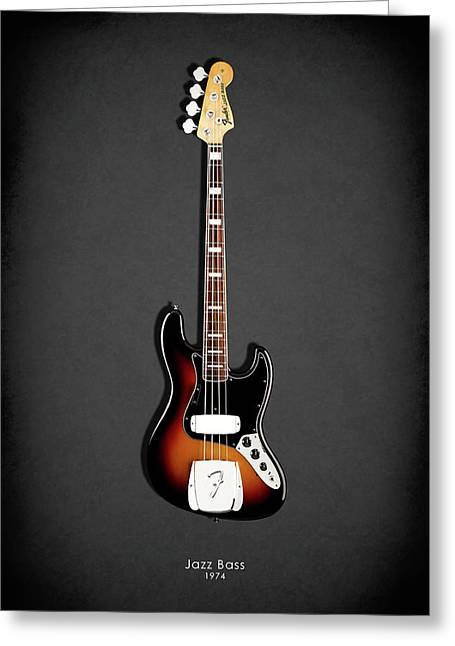 Fender Jazzbass 74 Greeting Card