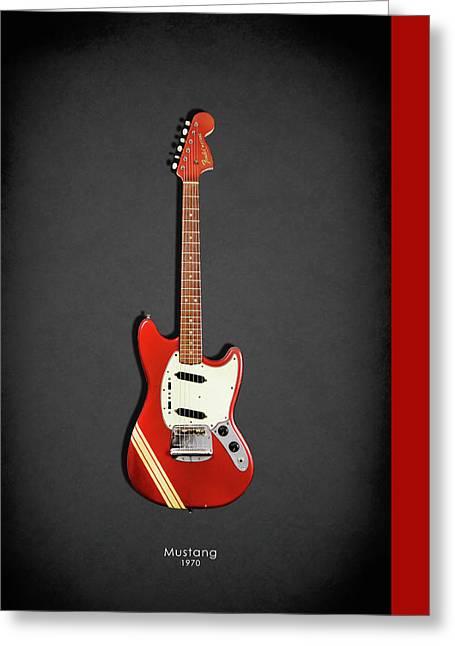 Fender Mustang 70 Greeting Card by Mark Rogan