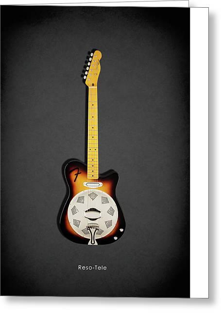 Fender Reso-tele Greeting Card by Mark Rogan