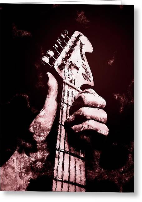 Fender Stratocaster - 06  Greeting Card by Andrea Mazzocchetti