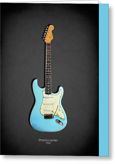 Fender Stratocaster 64 Greeting Card by Mark Rogan