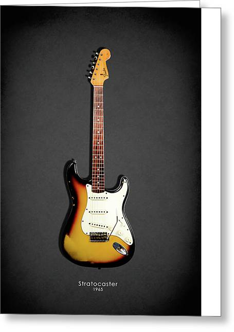 Fender Stratocaster 65 Greeting Card by Mark Rogan