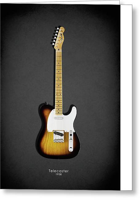 Fender Telecaster 58 Greeting Card by Mark Rogan