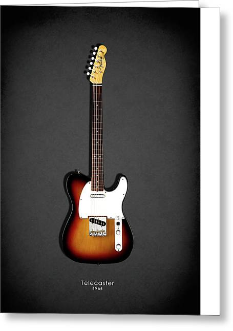 Fender Telecaster 64 Greeting Card by Mark Rogan