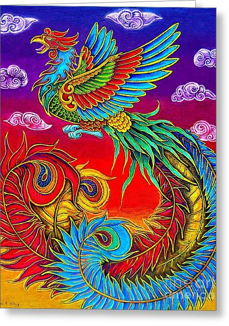Fenghuang Chinese Phoenix Greeting Card