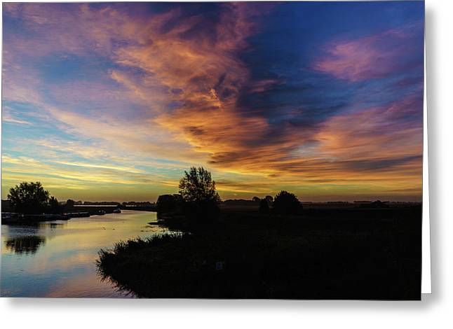 Greeting Card featuring the photograph Fenland Sunrise by James Billings