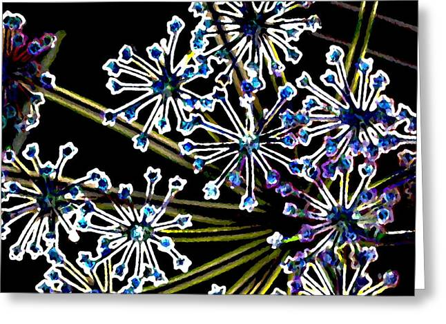 Fennel Inflorescence In Neon 2 Greeting Card