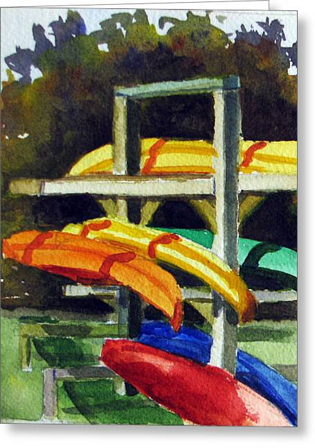 Fennimore Kayaks Greeting Card by Libby  Cagle