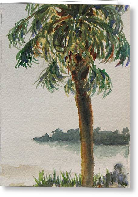 Fennimore Palm Greeting Card by Libby  Cagle