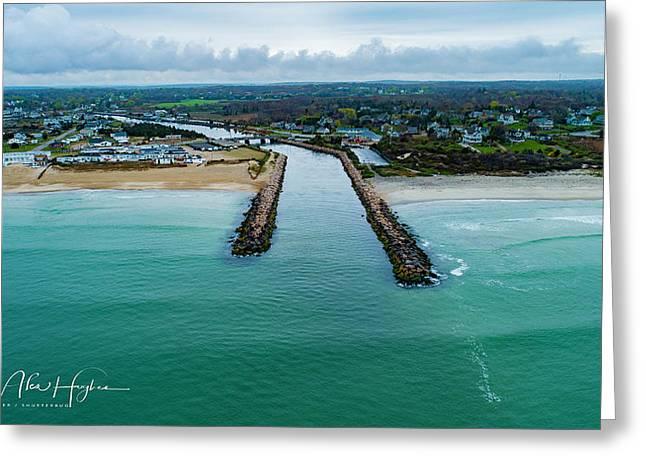 Fenway Beach Breakwater Greeting Card
