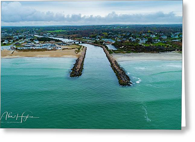 Fenway Beach Breakwater Greeting Card