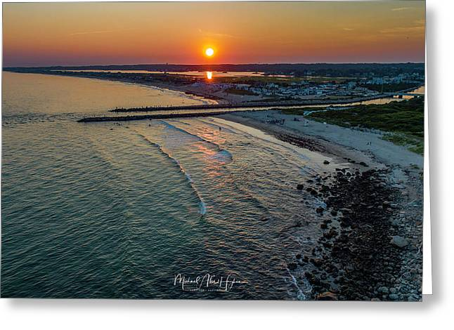 Greeting Card featuring the photograph Fenway Beach Sunset by Michael Hughes