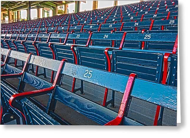 Fenway Bleachers Greeting Card
