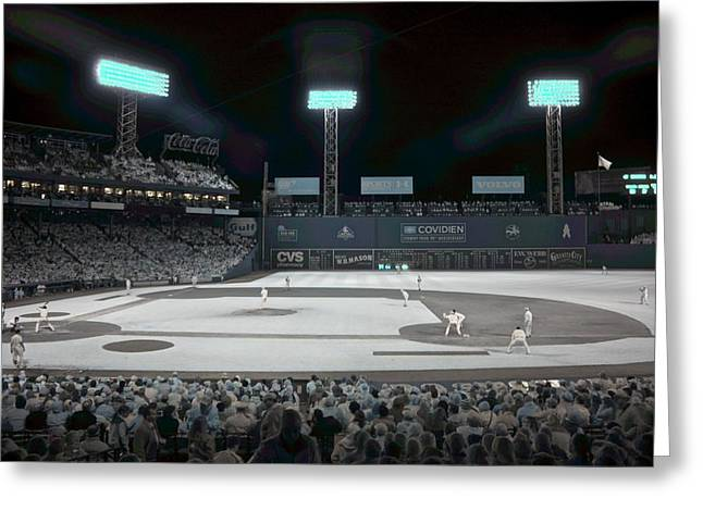 Fenway Infrared Greeting Card by James Walsh