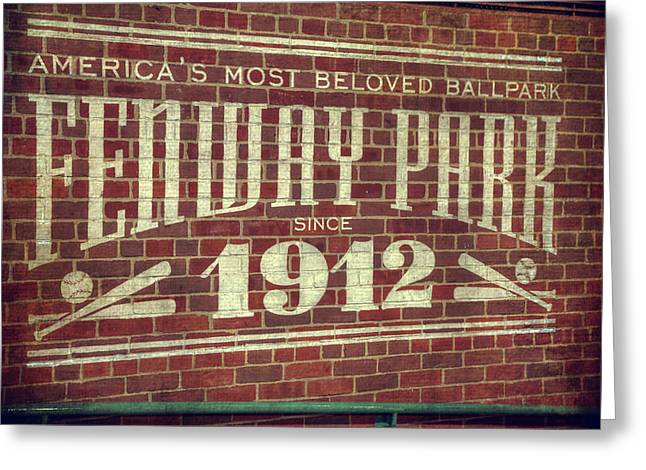 Fenway Park 1912 - Boston Red Sox Greeting Card