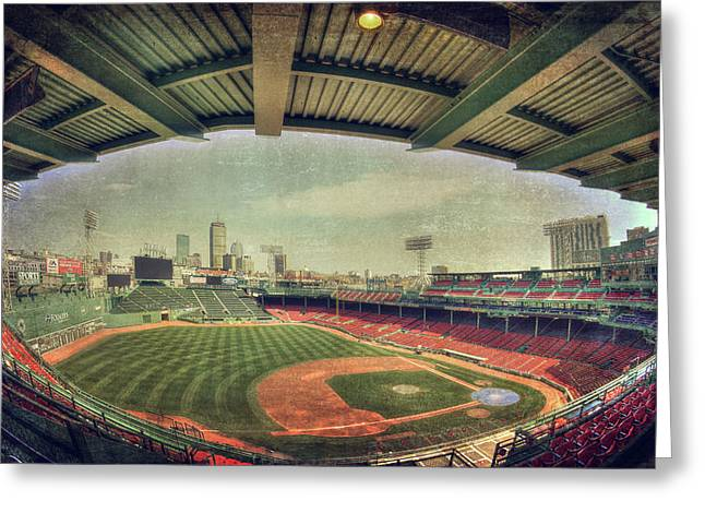 Fenway Park Ball Park - Boston Red Sox Greeting Card by Joann Vitali