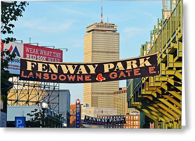 Fenway Park Banners Boston Ma Greeting Card by Toby McGuire