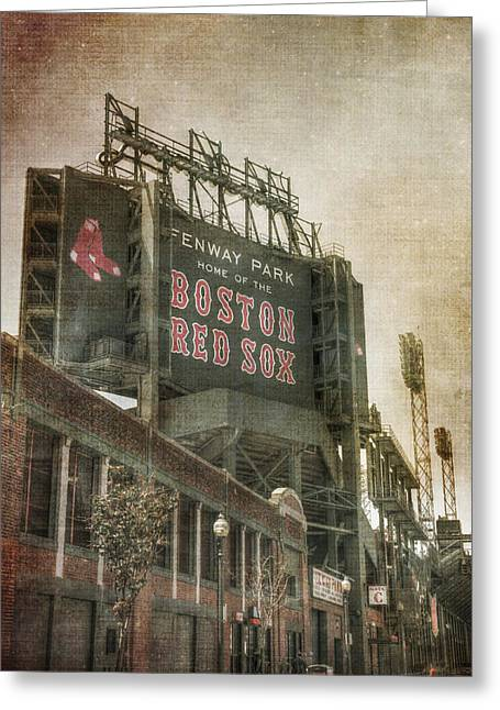 Fenway Park Billboard - Boston Red Sox Greeting Card by Joann Vitali