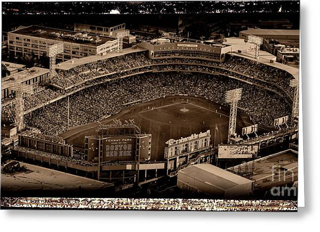 Fenway Park - Boston Red Sox - Antiqued Series Greeting Card