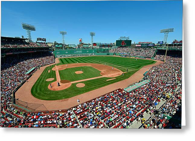 Ballfield Greeting Cards - Fenway Park - Boston Red Sox Greeting Card by Mark Whitt