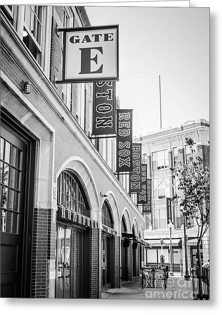 Fenway Park Gate E Entrance Black And White Photo Greeting Card by Paul Velgos