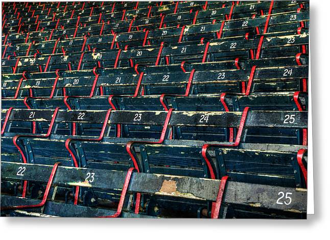 Fenway Park Grandstand Seats Greeting Card by Joann Vitali