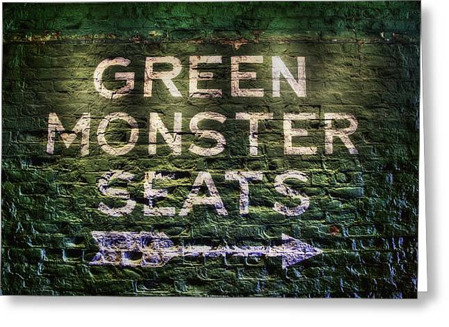 Greeting Card featuring the photograph Fenway Park Green Monster Seats by Joann Vitali
