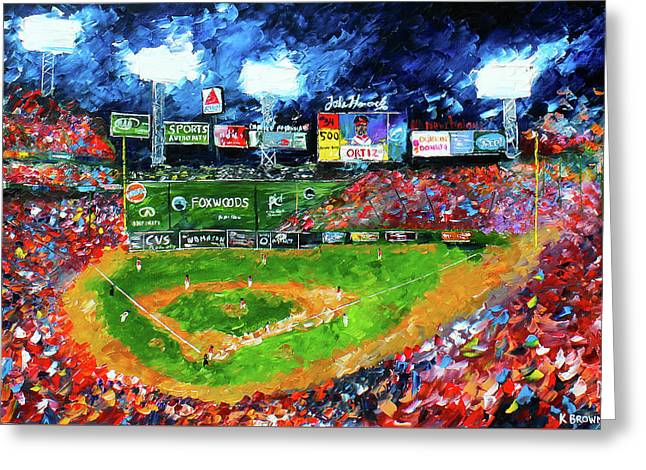 Fenway Park Greeting Card by Kevin Brown