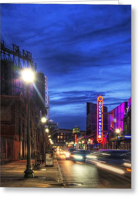Fenway Park - Lansdowne Street - Boston  Greeting Card by Joann Vitali