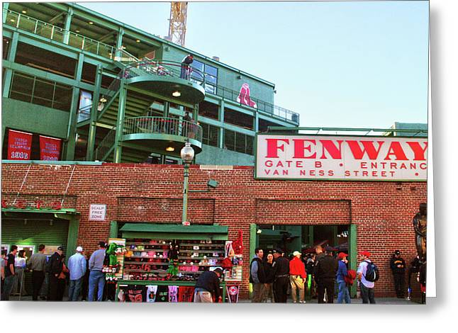 Fenway Park Greeting Card by Mitch Cat