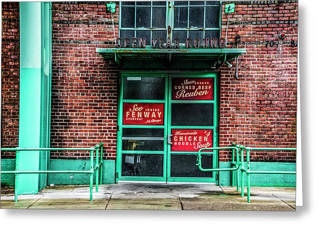 Fenway Park - The Bleacher Bar Greeting Card by Bill Cannon