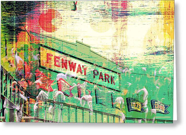 Fenway Park V3 Greeting Card