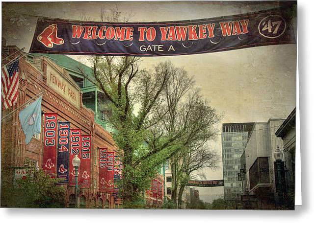 Fenway Park Yawkey Way Sign Greeting Card