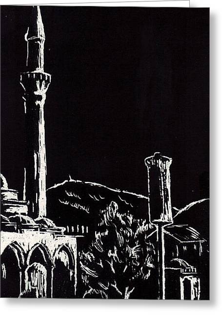 Ferhat-pasha Mosque  Greeting Card by Ramo Sabanovic