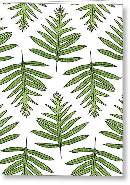 Fern Array Greeting Card