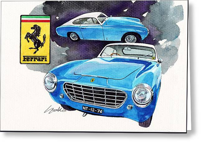 Ferrari 195 Inter Greeting Card