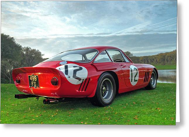 Ferrari 1962 330 Lmb II Greeting Card by John Adams