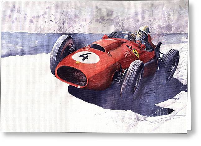 Ferrari 246 Mike Hawthorn Greeting Card by Yuriy  Shevchuk