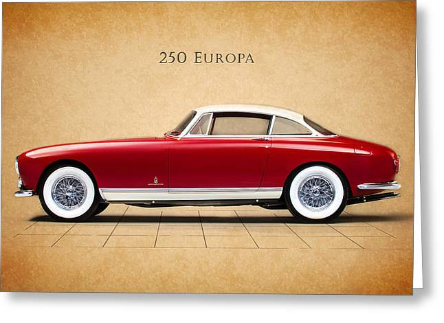 Ferrari 250 Europa Greeting Card by Mark Rogan
