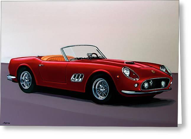 Ferrari 250 Gt California Spyder 1957 Painting Greeting Card