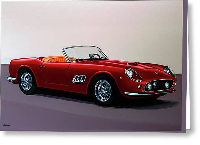 Ferrari 250 Gt California Spyder 1957 Painting Greeting Card
